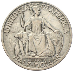 USA Half Silber-Dollar San Diego California-Pacific Exposition 1936