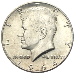 USA Kennedy Half Dollar 1964 Liberty