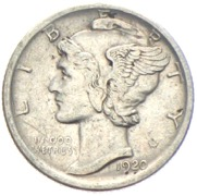 USA Mercury Dime 1920