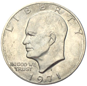 USA Moon Dollar Eisenhower 1971