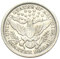USA Quarter Dollar Barber