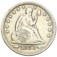 USA Quarter Seated Liberty 1853