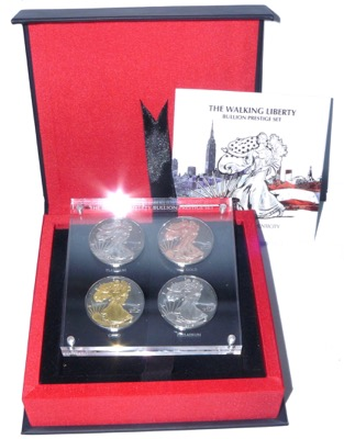 Walking Liberty Bullion Prestige Set 2015